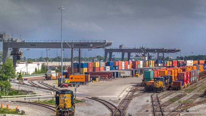 """Once our roadways are digitized to move automated vehicles, we will draw more industries to our intermodal facilities and accelerate their growth,"""" Rep. Kelly said. (Photos by Brandon Townley)"""