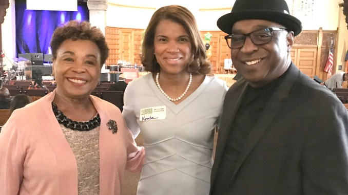 Barbara Lee, Kemba Smith and Donald Frazier