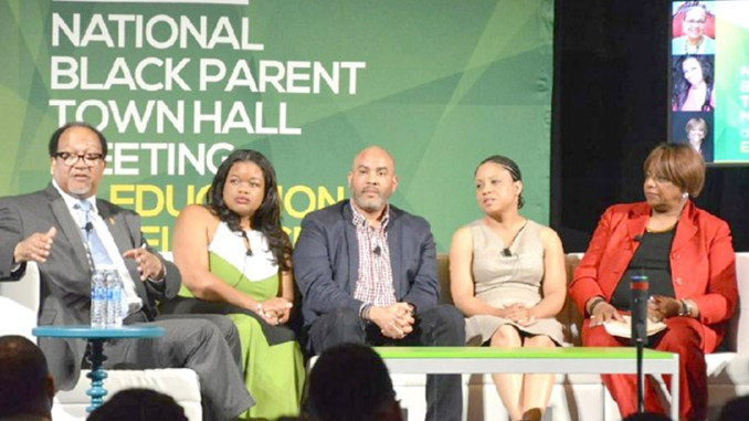 NNPA President/CEO Dr. Benjamin Chavis, Jr. leads a panel discussion regarding ESSA during recent Black Parents' Town Hall meeting