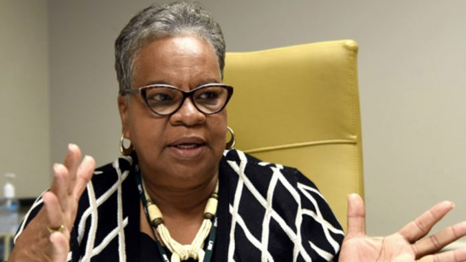 Dr. Paulette Patterson Dilworth, Vice President, Diversity, Equity and Inclusion, discusses the functions of her office in Birmingham, Ala., Wednesday, Nov. 7, 2018. (Photo by Mark Almond)