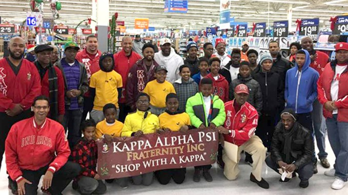 "Seattle Alumni Chapter and University of Washington undergraduate chapter Gamma Eta of Kappa Alpha Psi Fraternity ""Shop With A Kappa"" Community Service Program."