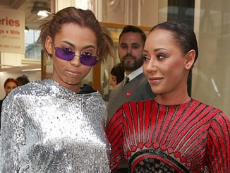 Mel B (right) and daughter ttended the Hello! magazine x Dover Street Market 30th anniversary party in London on May 9, 2018 (Photo credit: Brett D. Cove/Splash News)