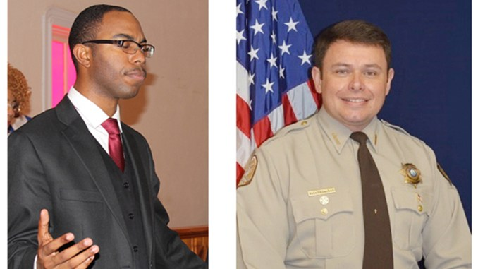 """Rev. T.D. """"Donte"""" Byrdsong, left, and Sheriff Bucky Rowland (Photo by: tntribune.com)"""
