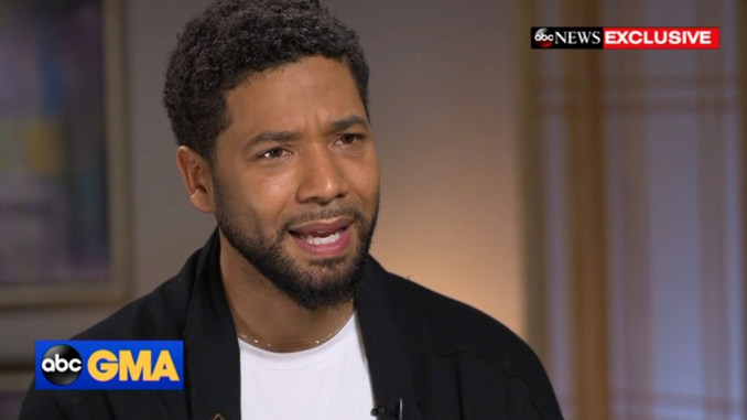 """""""As a victim of a hate crime who has cooperated with the police investigation, Jussie Smollett is angered and devastated by recent reports that the perpetrators are individuals he is familiar with. He has now been further victimized by claims attributed to these alleged perpetrators that Jussie played a role in his own attack. Nothing is further from the truth and anyone claiming otherwise is lying."""" Smollett stated through his attorneys."""
