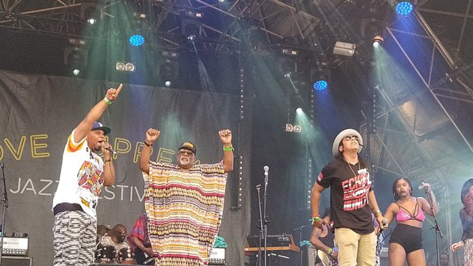 George Clinton's Parliament/Funkadelic performing at the 2018 Love Supreme Jazz Festival. (Photo by: Wiki Commons)