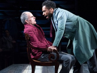 "Eric Hissom (left) and Joshua David Robinson star in ""JQA"" at Arena Stage. (Photo by C. Stanley Photography)"