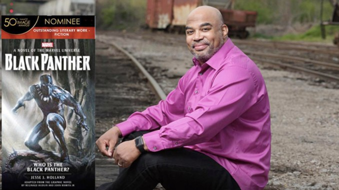 """Jesse J. Holland, best-selling, celebrated author has been nominated for an NAACP Image Award for his original book """"Black Panther: Who is the Black Panther?"""""""