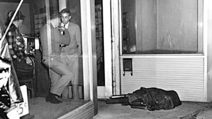 Morris is seen interviewing the owner of Canipe's Amusement Company in 1968 minutes after Dr. Martin Luther King Jr. was killed. Courtesy photo