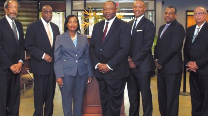 Carver Board of Directors L-R:: William E. Stiles, Edward G. Miller, Cathy Hill, Robert E. James, Robert E. James, II, Da'Henri Thurmond and E. Bruce Adams