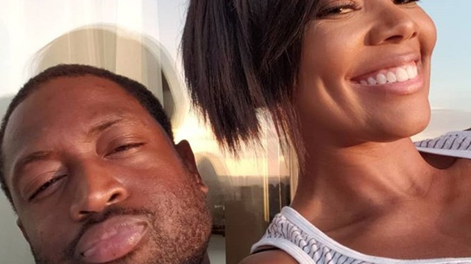 """Dwyane """"D-Wade"""" Wade and Gabrielle Union. (Image source: Instagram – @gabunion)"""