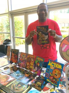 Comic book creator Chris Miller, Photo Credit M'Shai Dash