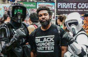 Comic book creator Uraeus at San Diego Comic Con 2016