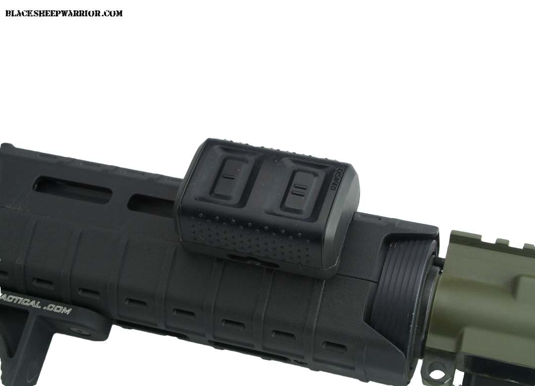 The M80 remote PTT might have been bulky but it was super useful for transmitting quickly!In the image it is mounted on the new Magpul MOE SL hand guard via an M-LOK rail. Photo Credit: Blacksheepwarrior.com