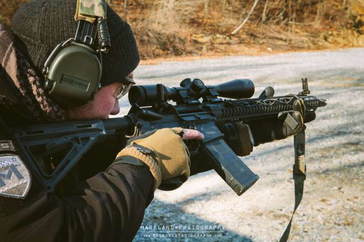Motus Patch and Magpul Offset BUIS Photo Credit: Markland Photography