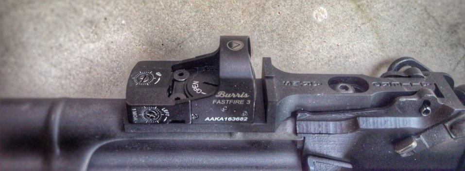 Note the pistol notch rear BUIS just forward of the optic