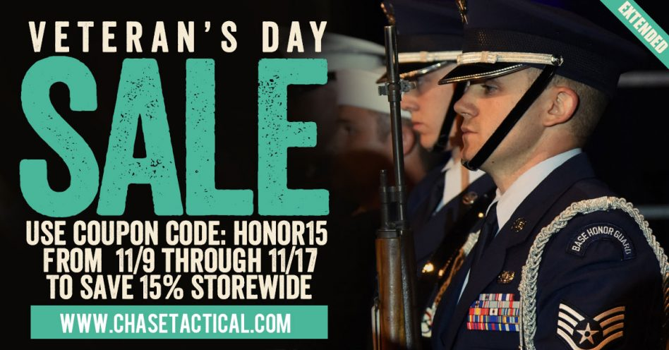 Chase tactical veterans Day Sale