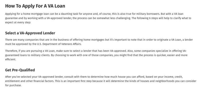 RE Factor Tactical Best VA Loans