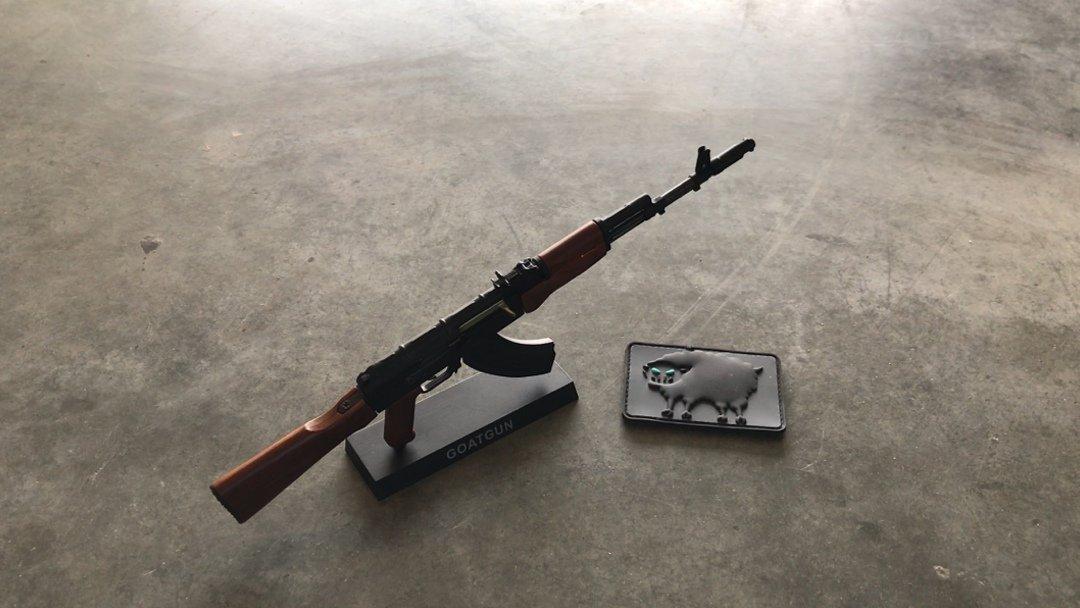 Goat Gun AK-47 Display Stand