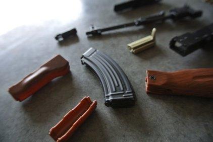 Goat Gun Ak-47 parts close up