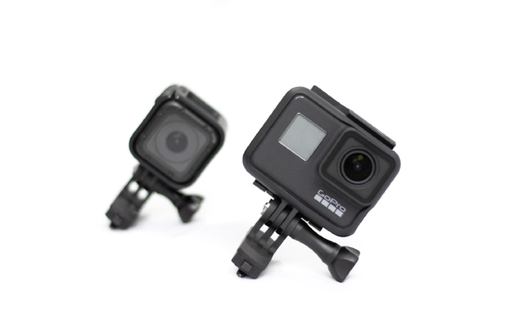 Attached here with the GoPro Session HD and the GoPro Hero 7.