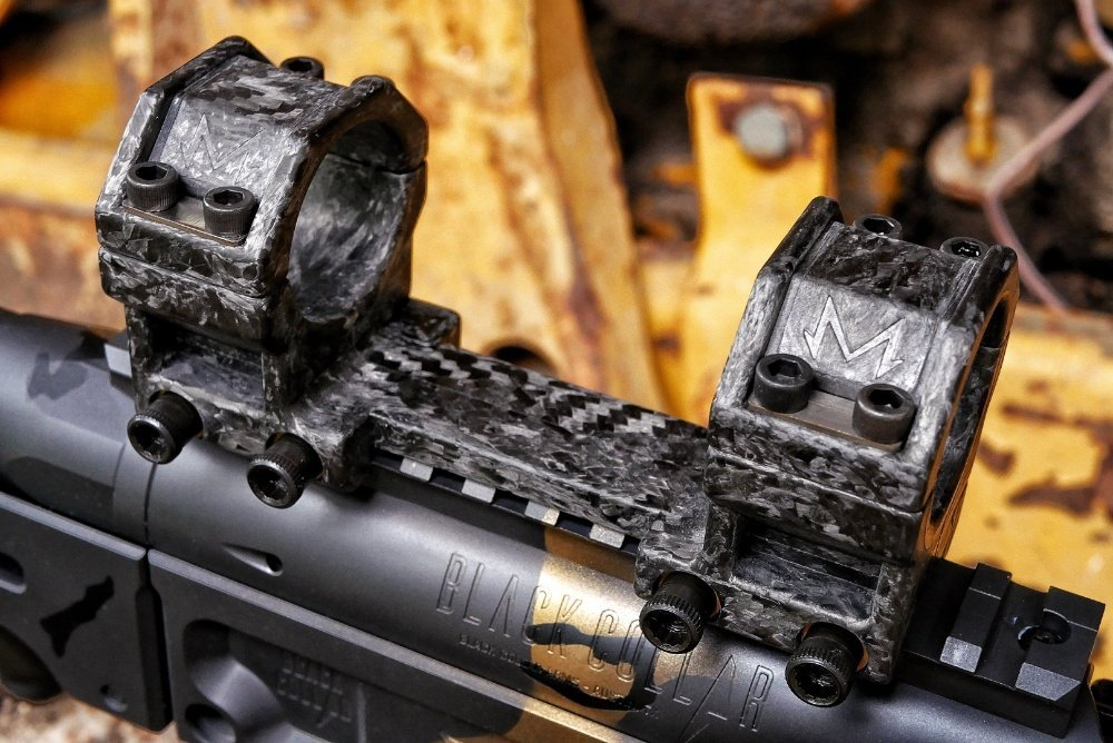 Black Collar One Piece Scope mount