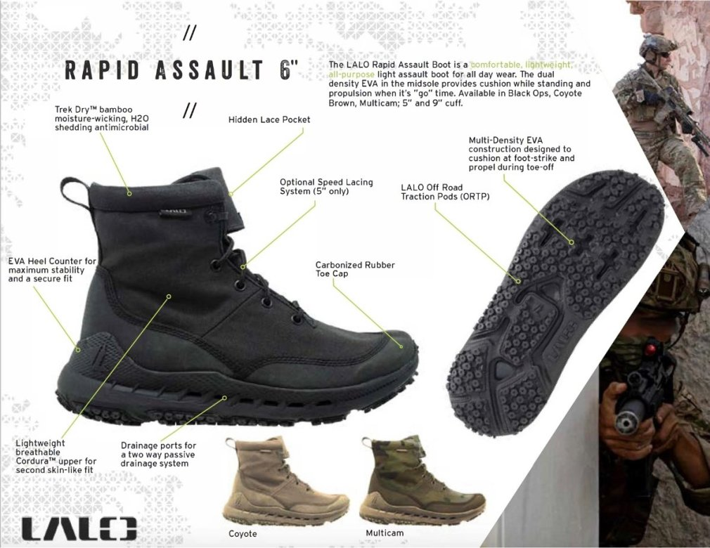 LALO Rapid Assault 6_ Coyote Boot Specs