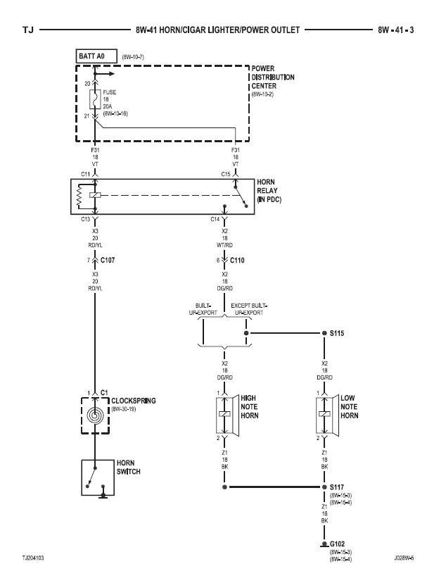 2000 jeep wrangler wiring diagram 2000 image 1997 jeep wrangler horn wiring diagram jodebal com on 2000 jeep wrangler wiring diagram