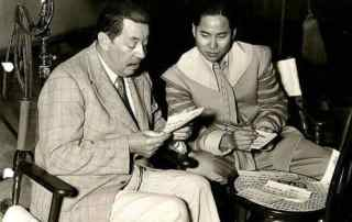 Warner Oland and Keye Luke in 1936