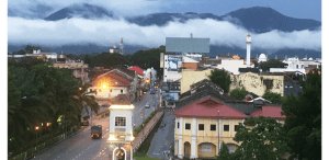 trail of fog over Ipoh