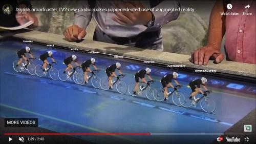 Augmented reality bicycle racing