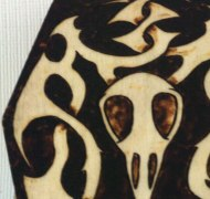 BlackSunArts Raven Skull Coffin Box