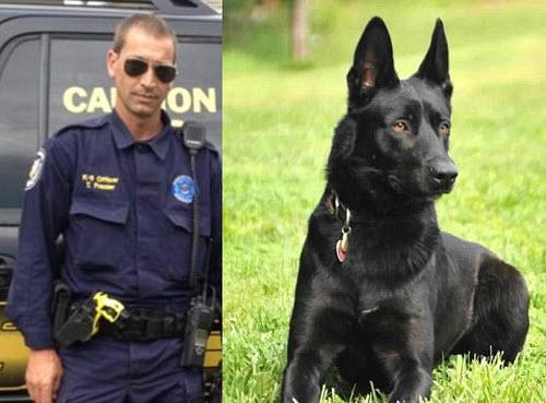 Deputy Todd Frazier  of Long Beach, Mississippi & K-9 Lucas.
