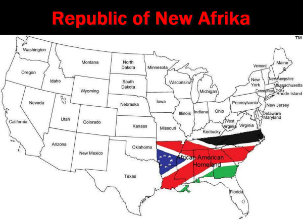 The Republic of New Afrika (RNA) was founded in 1968 as an American social movement based in Black Nationalism.