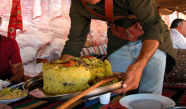 Maglooba - the upside down one-pot gluten free Jordanian dish!
