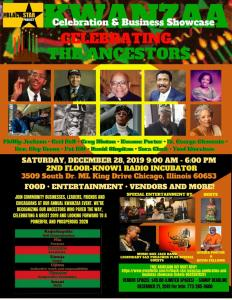 "The Black Star Project Presents ""Celebrating The Ancestors"" Kwanzaa Celebration Saturday, December 28, 2019, in Chicago"