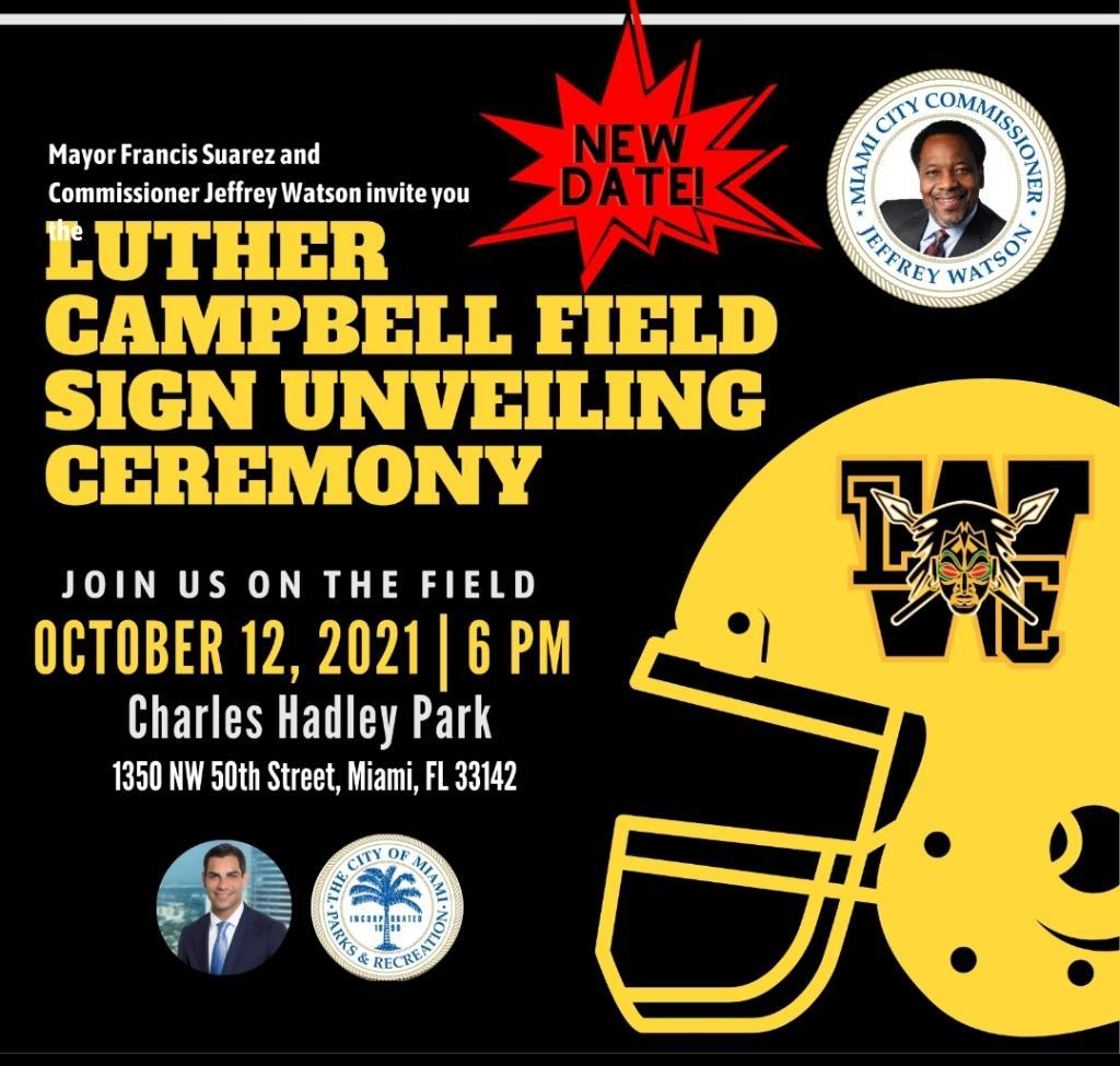 """Hip-Hop Icon Luther """"Uncle Luke"""" Campbell Has A Football Field Named After Him – Unveiling Oct 12"""