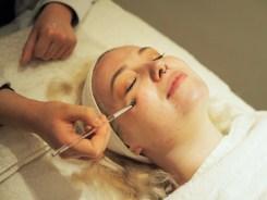 Clinique facial shot