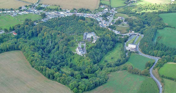 An aerial view of Blackwater Castle
