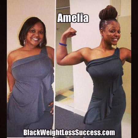 Amelia lost 54 pounds | Black Weight Loss Success