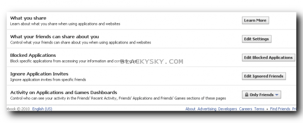 blackysky apps facebook privacy