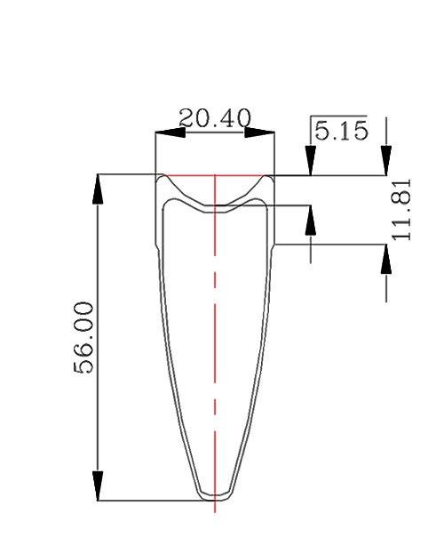 BladeX 4S AIRFORACE Rim Shape Tubular