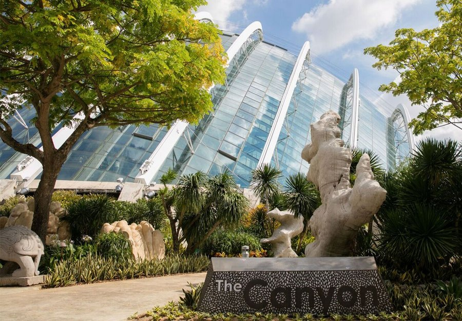 canyon gardens by the bay, gardens by the bay, singapura