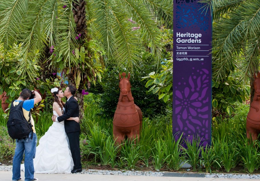 heritage garden, gardens by the bay, singapura