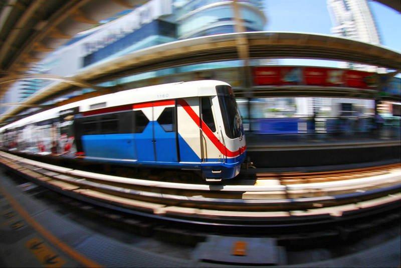 bts skytrain bangkok, thailand