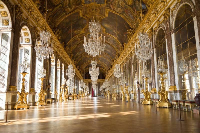 Hall of Mirrors, Versailles, Paris, Perancis