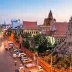 suasana di kota phnom penh, kamboja