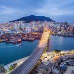 pemandangan kota busan dari ketinggian, korea selatan