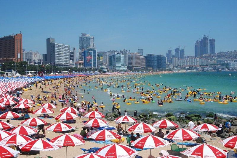 pantai haeundae, busan, korea selatan
