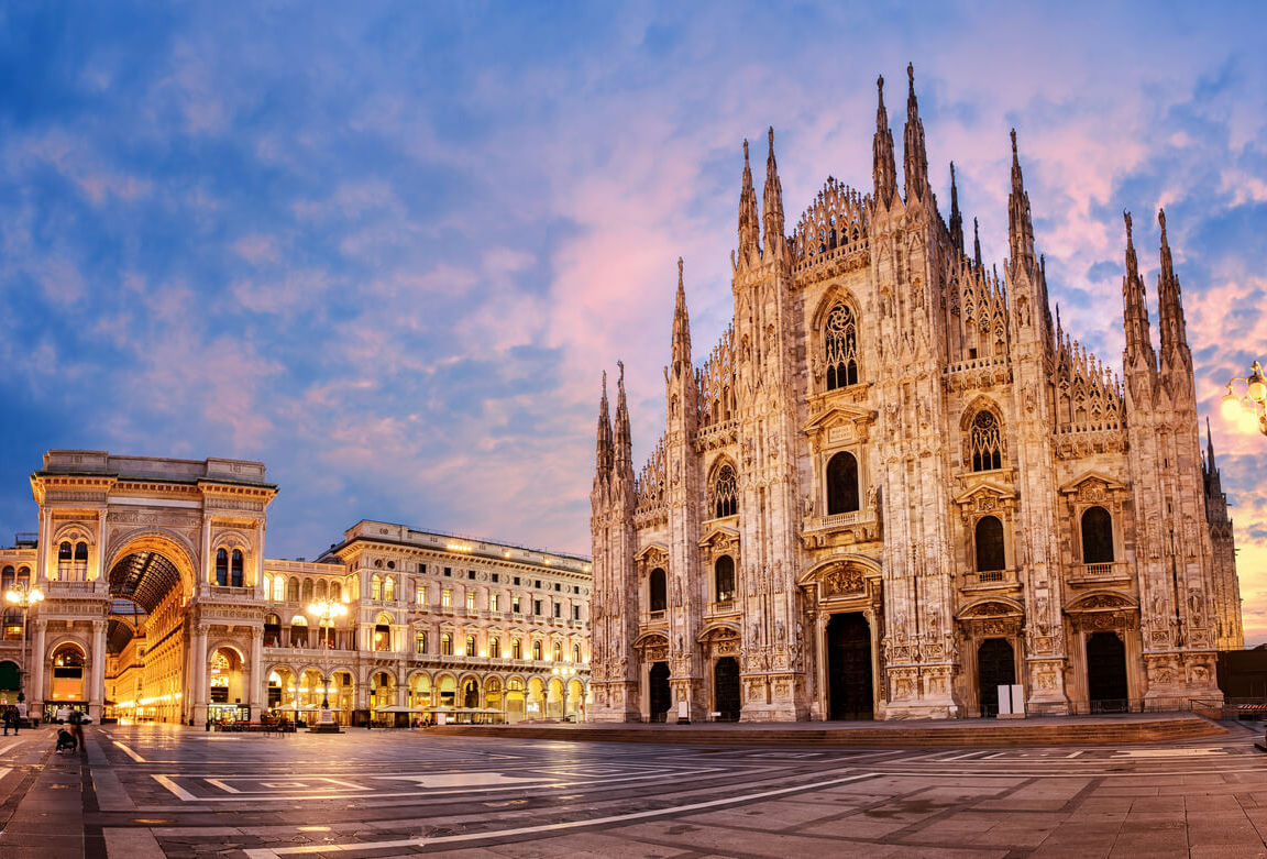 katedral di kota milan, italia