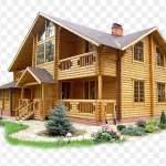 rumah kayu dalam bentuk file png